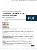 Recent Patent Applications on Next Generation Sequencing « Sciclips's Blog