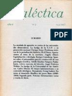 Dialéctica, nº 02, enero 1977