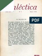 Dialéctica, nº 04, enero 1978