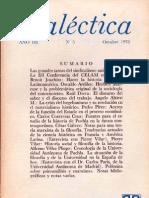 Dialéctica, nº 05, octubre 1978