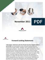 3Q11 Investor Presentation