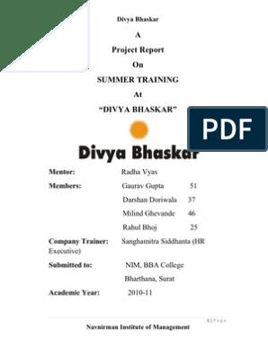 Old Divya Bhaskar | Sales | Marketing