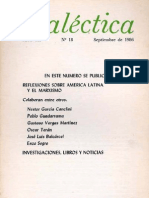 Dialéctica, nº 18, septiembre 1986