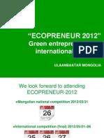 Ecopreneur20`12