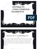 Contracts Involving Foreign Elements
