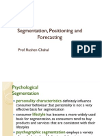 Segmentation, Positioning and Forecasting
