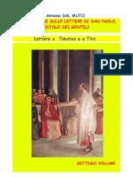 Riflessioni Sulle Lettere a Timoteo e a Tito