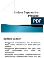 Sistem Sapaan Dan Protokol