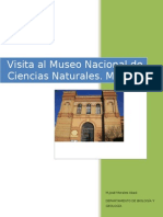 Visita Al Museo Nacional de Ciencias Naturales Cristian y Juan Carlos