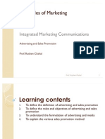 Principles of Marketing - Advertising and Sales Promotion