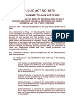 RA 8972 - Solo Parents Welfare Act of 2000