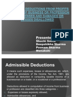Admissible Deductions From Profits and Gains of Business .................Shuchi