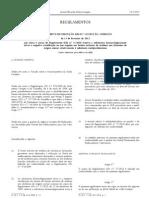 Residuos de Medicamentos - Legislacao Europeia - 2012/02 - Reg nº 122 - QUALI.PT
