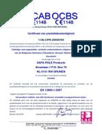 OCBS Certificate