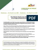 959 - Préselection Handi-Livres 2009