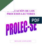 81304234 PROLEC SE Hoja Anotaciones