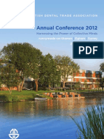 BDTA Annual Conference 2012 - A4 Brochure
