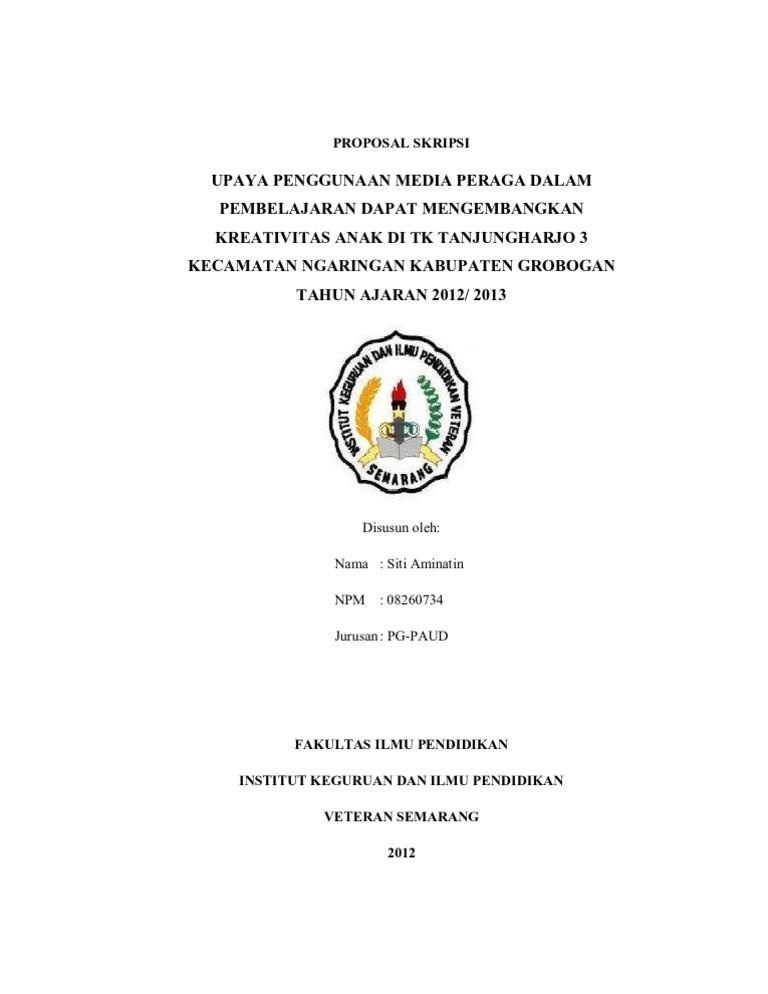 Cover Proposal Skripsi Paud 2