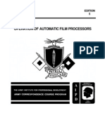 US Army Photography Course SS0520-5 - Operation of Automatic Film Processors