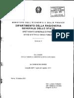 MIN. ECONOMIA Relazione Comune Di Chieti