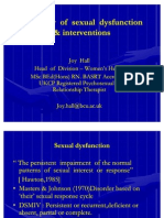 Overview of Sexual Dysfunction & Psycho Sexual Therapy