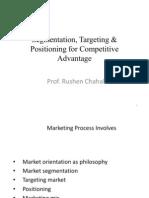 Segmentation, Tarketing & Positioning for Competitive Advantage