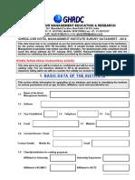 HM Institute Questionnaire 2012