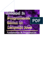 Unidad3-Programacion Basica en Lenguaje Java