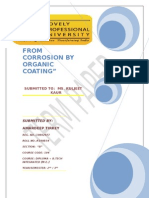 """PROTECTION FROM CORROSION BY ORGANIC COATING"""