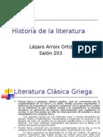 Historia .Literatura