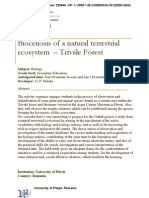Biocenosis of a Natural Terrestrial Ecosystem Trivale Forest Biology en Up Ro 136