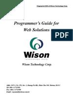 Web Programmer Guide