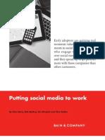 BAIN BRIEF Putting Social Media to Work