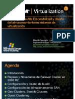 Estrategias de Alta Disponibilidad y diseño del almacenamiento en entornos de virtualización