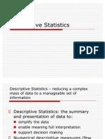 Lecture 3+ , Descriptive Statistics (Slide)