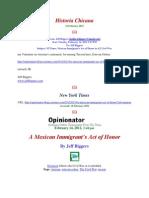 Jeff Biggers l a Mexican Immigrant's Act of Honor l NY Times l 14 Feb 2012