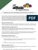 Explication Des Erreurs Interceptables Dans Visual Basic Pour Applications