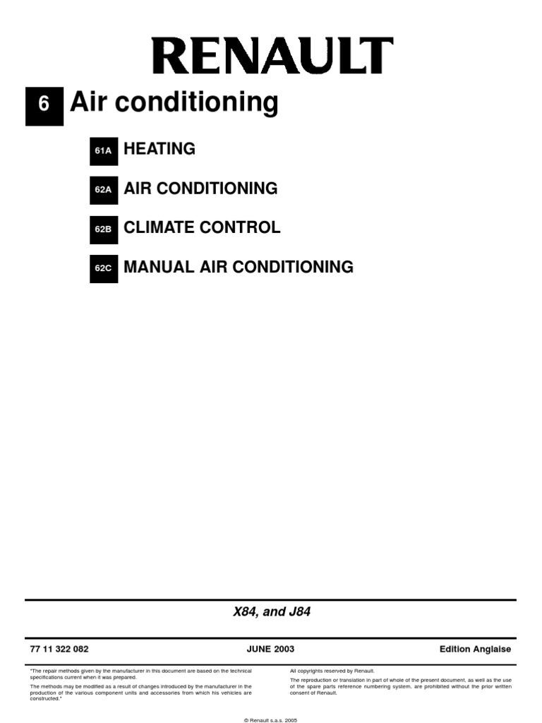 renault scenic air conditioning air conditioning radiator rh scribd com