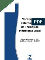 Vocabulario Metrologico Legal