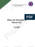 Model completo de PLANO DE EMERGÊNCIA