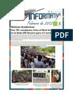 Boletín Informativo Sede UIS Socorro 14 de Febrero de 2012