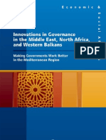 Vernance in the Middle East, North Africa, And Western Balkans Making Governments Work Better in the Mediterranean Region (Economic & Social Affairs)