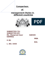 Comparison of Management Styles in Different Countries