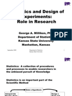 Statistics and Design of Experiments