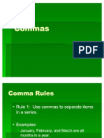 Commas (Rules 1-3)