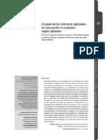 El papel de los sistemas regionales de innovación en ciudades región globales