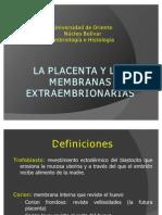 La Placenta y Las Membranas Extraembrionarias U12