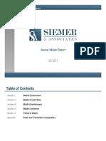Siemer & Associates Mobile Report 3rd Qtr 2011