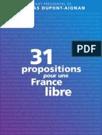 Projet Presidentiel Nda - 31 Propositions 0