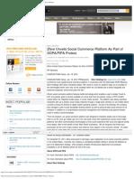 Zfere Unveils Social Commerce Platform as Part of SOPA_PIPA Protest. _ Reuters